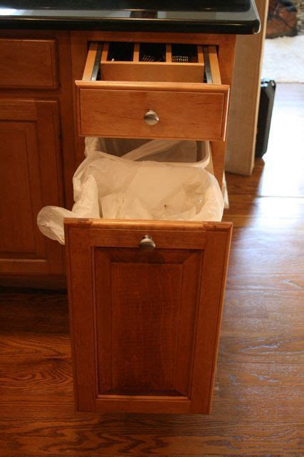 trash compactor built  kitchen island  trash