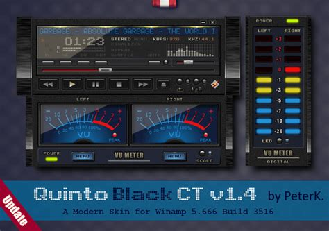 Quinto Black CT 1.4 is out – a skin for Winamp