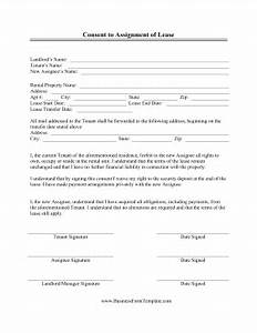 consent to assignment of lease template With assignment of lease template