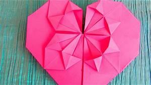 Origami Fleur Coeur D étoile : origami c ur fleurissant ~ Melissatoandfro.com Idées de Décoration