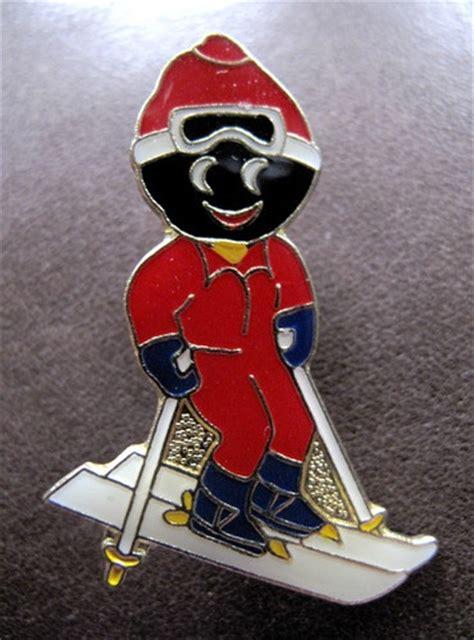 robertsons skier golly gollywog golliwog badge brooch