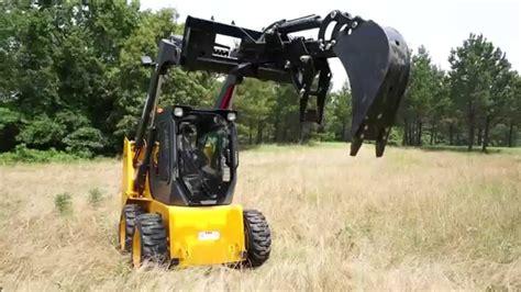 titan skid steer backhoe fronthoe adjustable bolt  thumb excavator attachment bobcat youtube