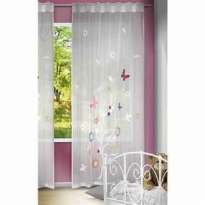 Blickdichte Vorhänge Kinderzimmer : gardine fr hlingsbaum 245 x 140 cm 1 schal wei yomonda ~ Frokenaadalensverden.com Haus und Dekorationen