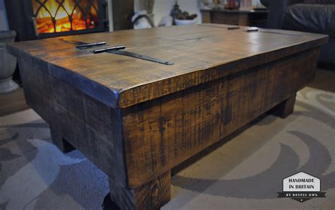 Chest coffee table with storage. Storage Coffee Table | Rustic Owl