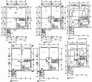 House Electrical Wiring Plan Dwg File  With Images