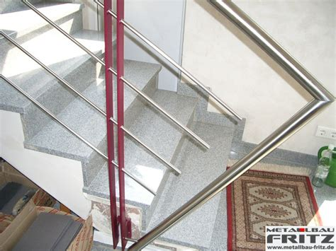 edelstahl treppengel 228 nder innen 15 02 metallbau fritz