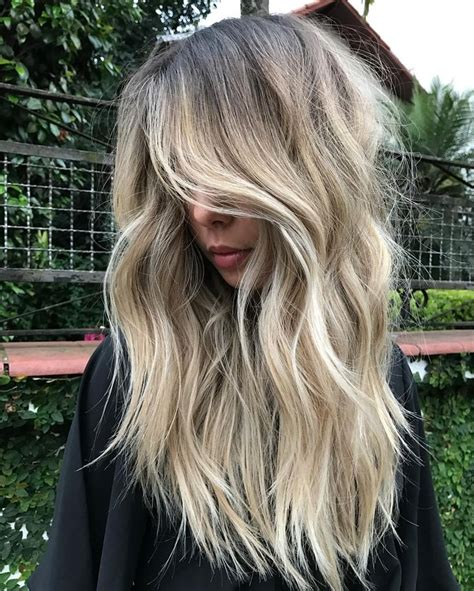 Blond E Hair And by Rooty Beige Balayage For Thick Wavy