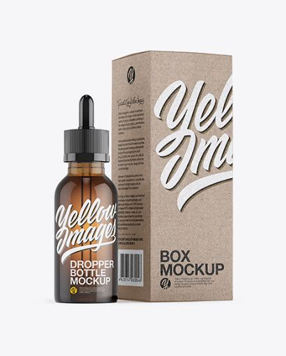 This amazing juice bottle mockup will help you to present your branding design in a photorealistic look. Amber Glass Dropper Bottle withGlossy Paper Box Mockup ...