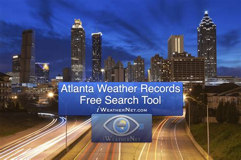 Atlanta Weather Records Database (georgia)