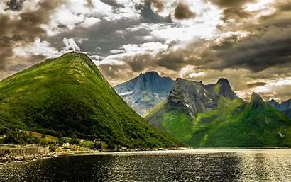 Mountains Lake Desktop Summer Landscape Scenery Rocky