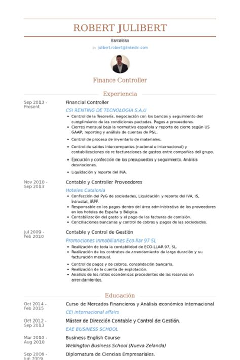 financial controller resume sles visualcv resume