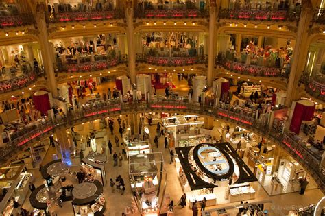 galeries lafayette department store on boulevard haussmann