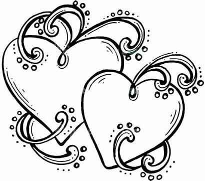 Coloring Heart Pages Wings Cool Hearts Human