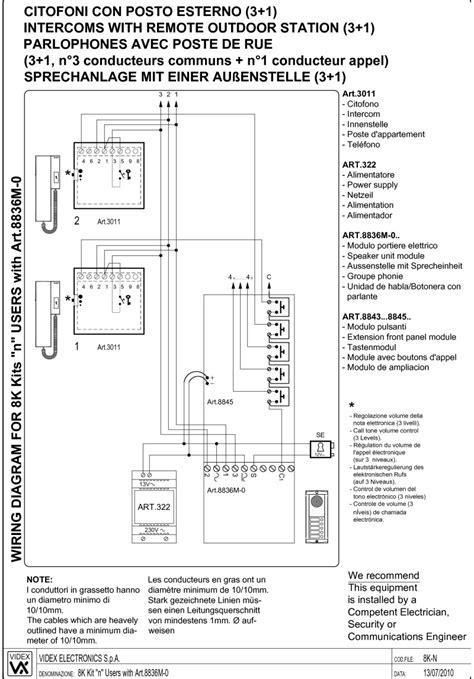 videx intercom wiring diagram 29 wiring diagram images