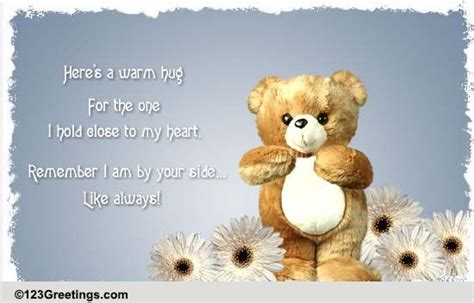 warm inspirational teddy hugs  sympathy condolences