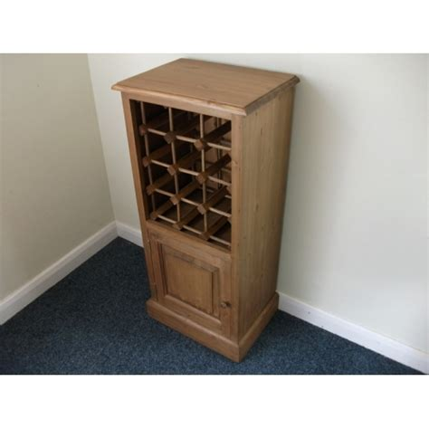 Wine Rack For Cupboard by Pine Wine Rack With Cupboard W43cm