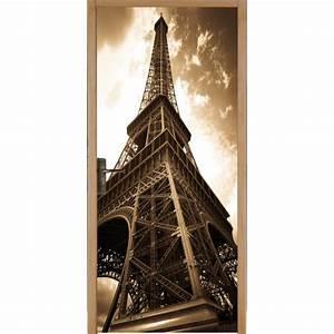 Tour Eiffel Deco : papier peint porte d co tour eiffel art d co stickers ~ Teatrodelosmanantiales.com Idées de Décoration