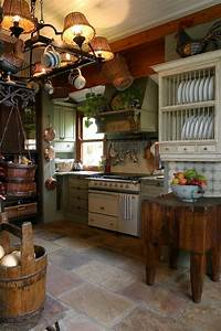 picture of floors of different shades add to the cozy With the best inspiration for cozy rustic kitchen decor