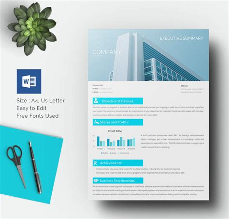 word template design 31 executive summary templates free sle exle format free premium templates