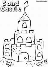 Sandcastle Sand Castle Coloring Pages Drawing Colorings Getdrawings sketch template