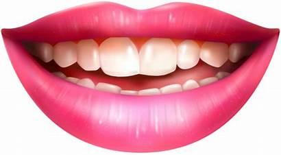 Lips Mouth Boca Transparent Clipart Smiling Clip