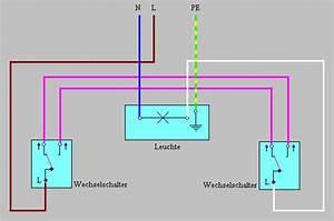Serienschalter Wechselschalter Unterschied : schaltungen bei der elektroinstallation anschlussbeispiele ~ Lizthompson.info Haus und Dekorationen
