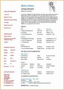 How To Make A Quick Resume For Free Acting Resume Template Build Your Own Resume Now