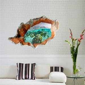 3D Underwater World Wall Decals Removable Scenery Wall ...