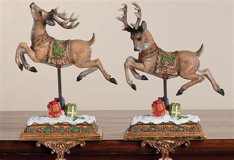 reindeer stocking holders set of 2 sharper image