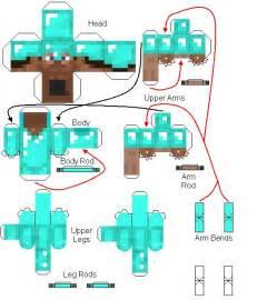 Minecraft Papercraft Steve Diamond Armor