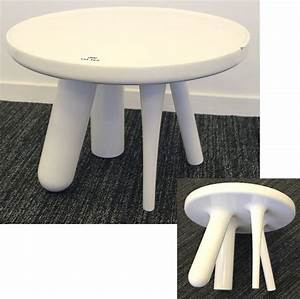 Table Basse Ronde Blanc Laqué : jaime hayon 1974 table basse ronde modele element 002 en fibre de verre laque blanc dimensions 36 x ~ Teatrodelosmanantiales.com Idées de Décoration