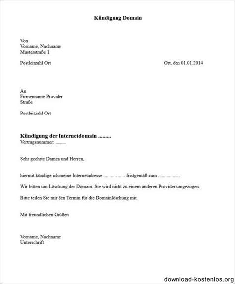 domain kuendigen vorlage fuer word kuendigungsschreiben