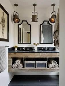 Salle De Bain En L : id e d coration salle de bain mod le de salle de bain l 39 italienne meubles en bois ~ Melissatoandfro.com Idées de Décoration