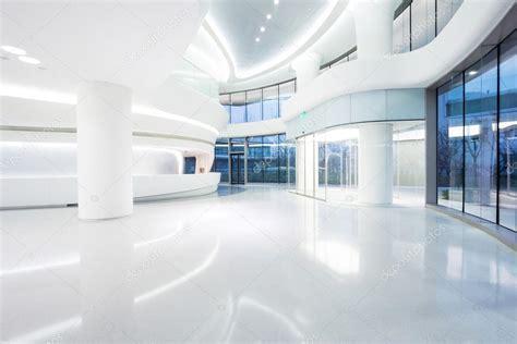 Futuristic Modern Office Building Interior — Stock Photo