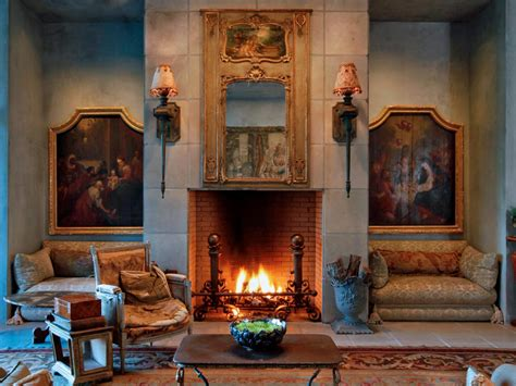 Living Room Furnishings by Lit Living Room With Antique Furnishings Hgtv