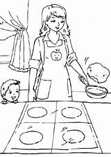 Pan Frying Coloring Pages sketch template