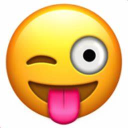 Face with Stuck-Out Tongue and Winking Eye Emoji (U+1F61C)