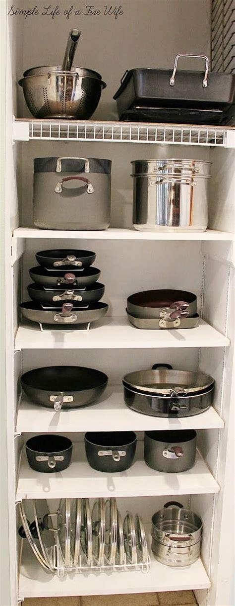 kitchen pan storage ideas best 25 pan organization ideas on pinterest