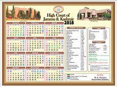 Jammu & Kashmir High Court Holiday List 2016 India