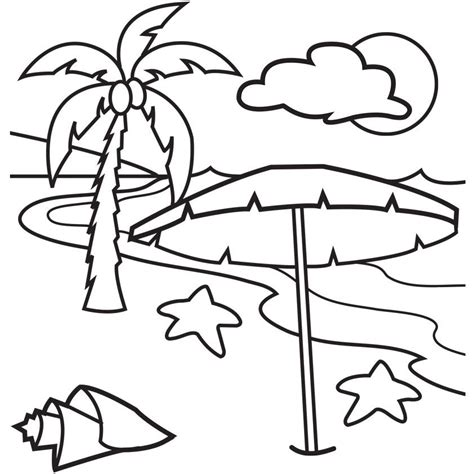 printable beach coloring pages az coloring pages
