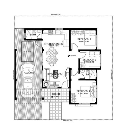 3 Bedroom Floor Plan In Philippines by Bungalow House Designs Series Php 2015016 Is A 3 Bedroom