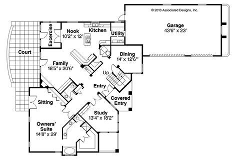 Mediterranean House Plans  Pasadena 11140 Associated