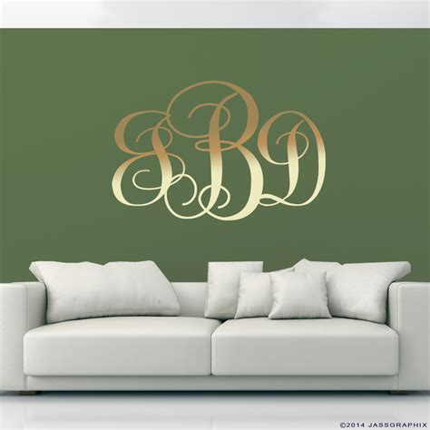monogram wall decals personalise your rooms and walls