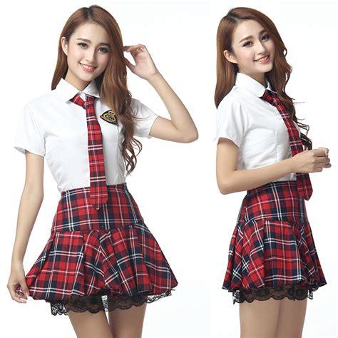 Japaneseschool uniform/Korean School Uniforms Girl Cute Sailor Tops Skirt Full Set Cosplay JK ...