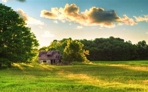 landscape, Clouds, House Wallpapers HD / Desktop and ...