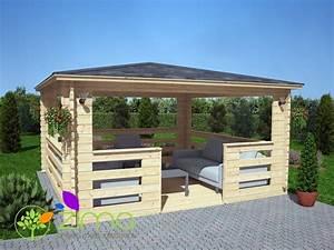 Tonnelle De Jardin 3x3 : tonnelle en bois 16m ~ Nature-et-papiers.com Idées de Décoration