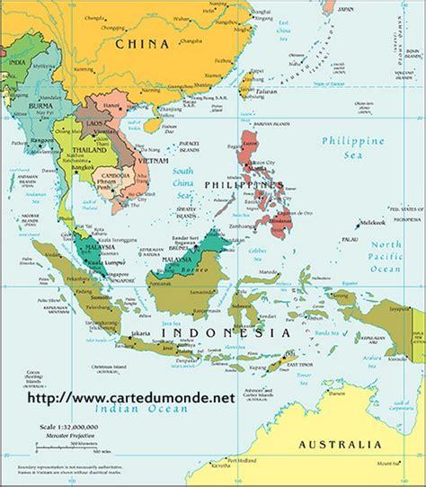Thailande Carte Geographique Monde by Carte Asie Du Sud Politique Carte Du Monde