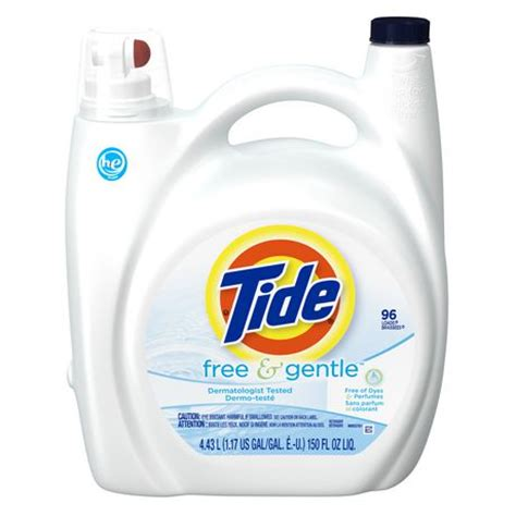 high efficiency laundry detergent tide free gentle high efficiency liquid laundry detergent walmart ca