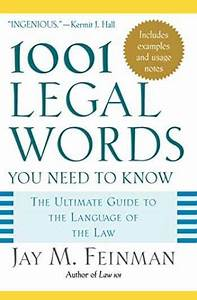 Sell  Buy Or Rent 1001 Legal Words You Need To Know  The