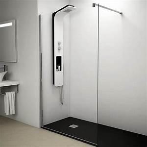 Paroi Douche Verre Sablé : paroi de douche fixe verre 8 mm 80 cm ~ Premium-room.com Idées de Décoration